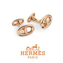 送料関税込☆HERMES Le Havre Cufflinks in pink gold