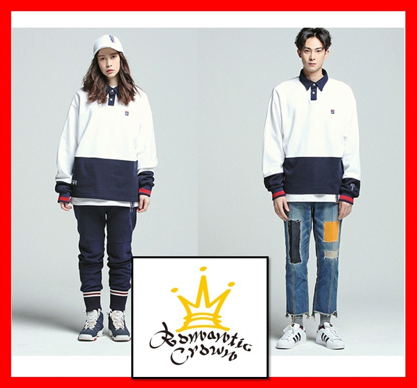 韓国の人気【ROMANTIC CROWN】Laundry Day polo shirt 2色