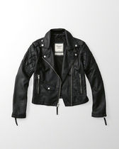 ANF Faux Leather Biker Jacket