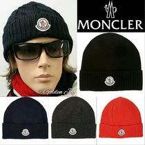 追跡付★Moncler★Virgin Wool Rib Knit Beanie ニット帽 4色