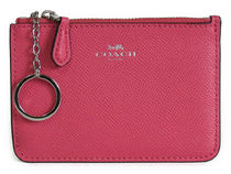 COACH Crossgrain Leather Key Pouch F57854
