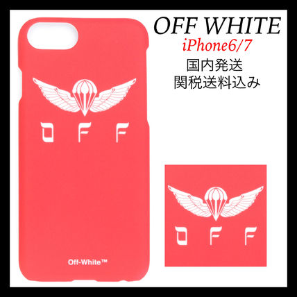 Off-White★新作 プリント iPhone6/7ケース 赤