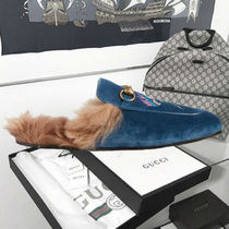 Gucci★Princetown Genuine Shearling Lined Mule Loafer