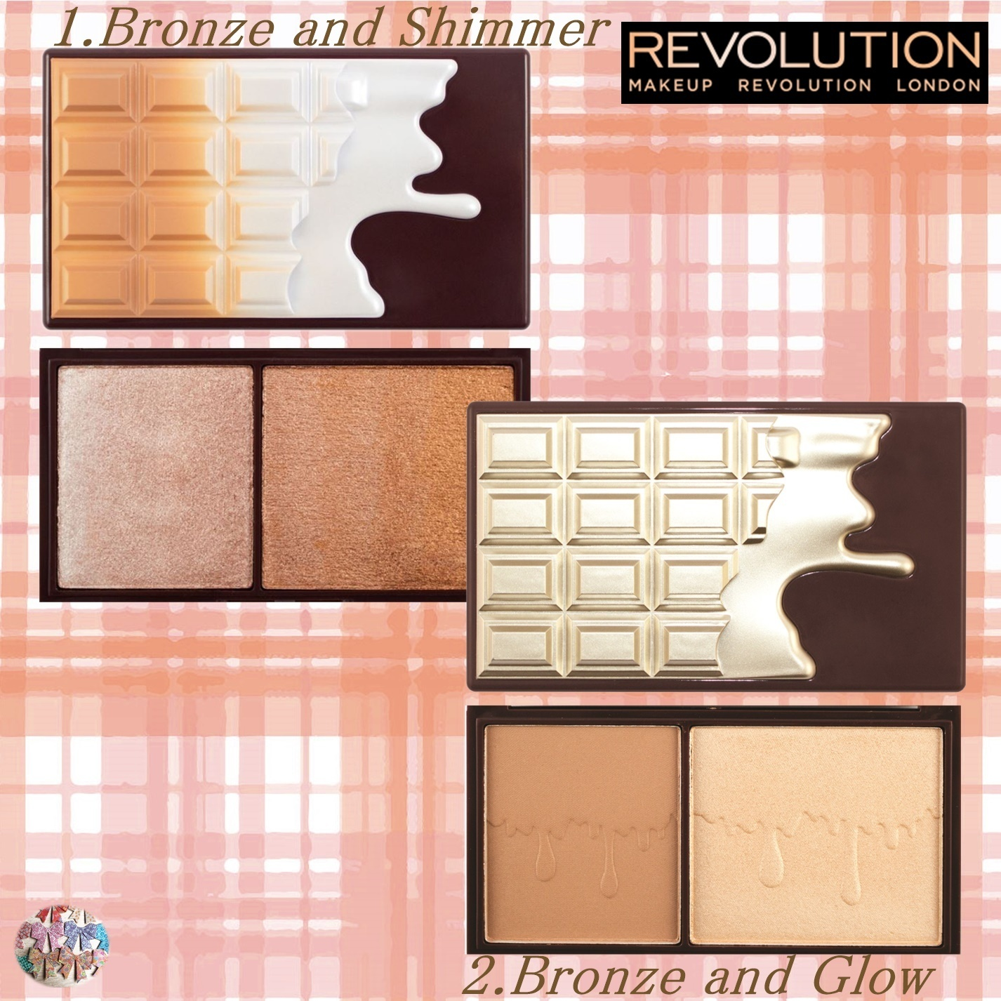 MAKEUP REVOLUTION☆Mini Chocolate Bar ブロンザー ハイライト