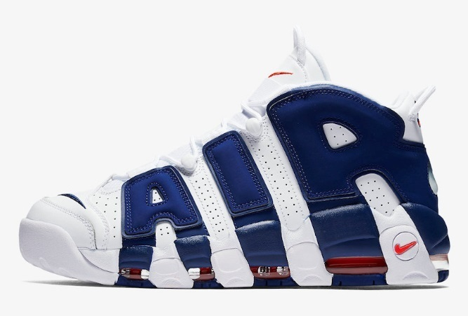 ☆大人気☆Nike Air More Uptempo Men's White/Deep Royal Blue