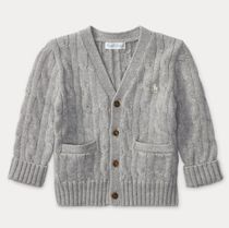 新作♪国内発送★2色★CABLE-KNIT COTTON CARDIGAN  boys 0~24M