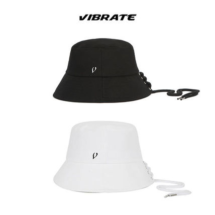 EXO着用ブランド ★VIBRATE★BLACK LINE STRING POINT BUCKETHAT