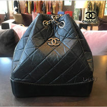 2017AW☆CHANEL☆SAC GABRIELLE  バックパック・カーフスキン/黒