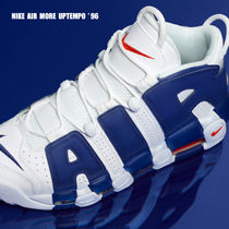 NIKE★AIR MORE UPTEMPO '96★ロゴ★WHITE/DEEP ROYAL BLUE
