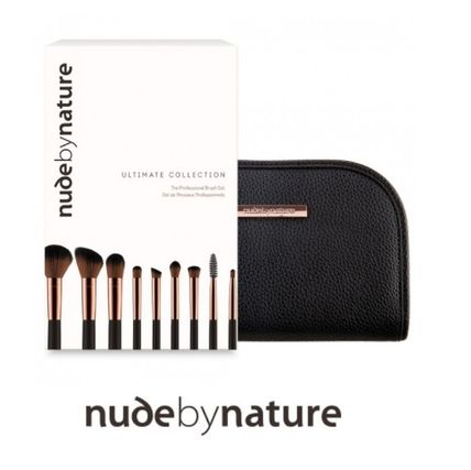nude by nature ブラシ 限定版☆メイクブラシ9本セット☆ポーチ付き☆nude by nature