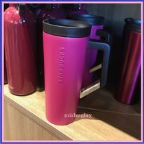 【STARBUCKS】日本未入荷2017秋★Plum Clip Handle Tumbler 16oz