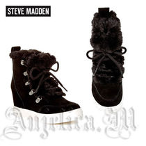 ★人気!★STEVE MADDEN LIFT Faux Fur Detail Wedge Sneaker