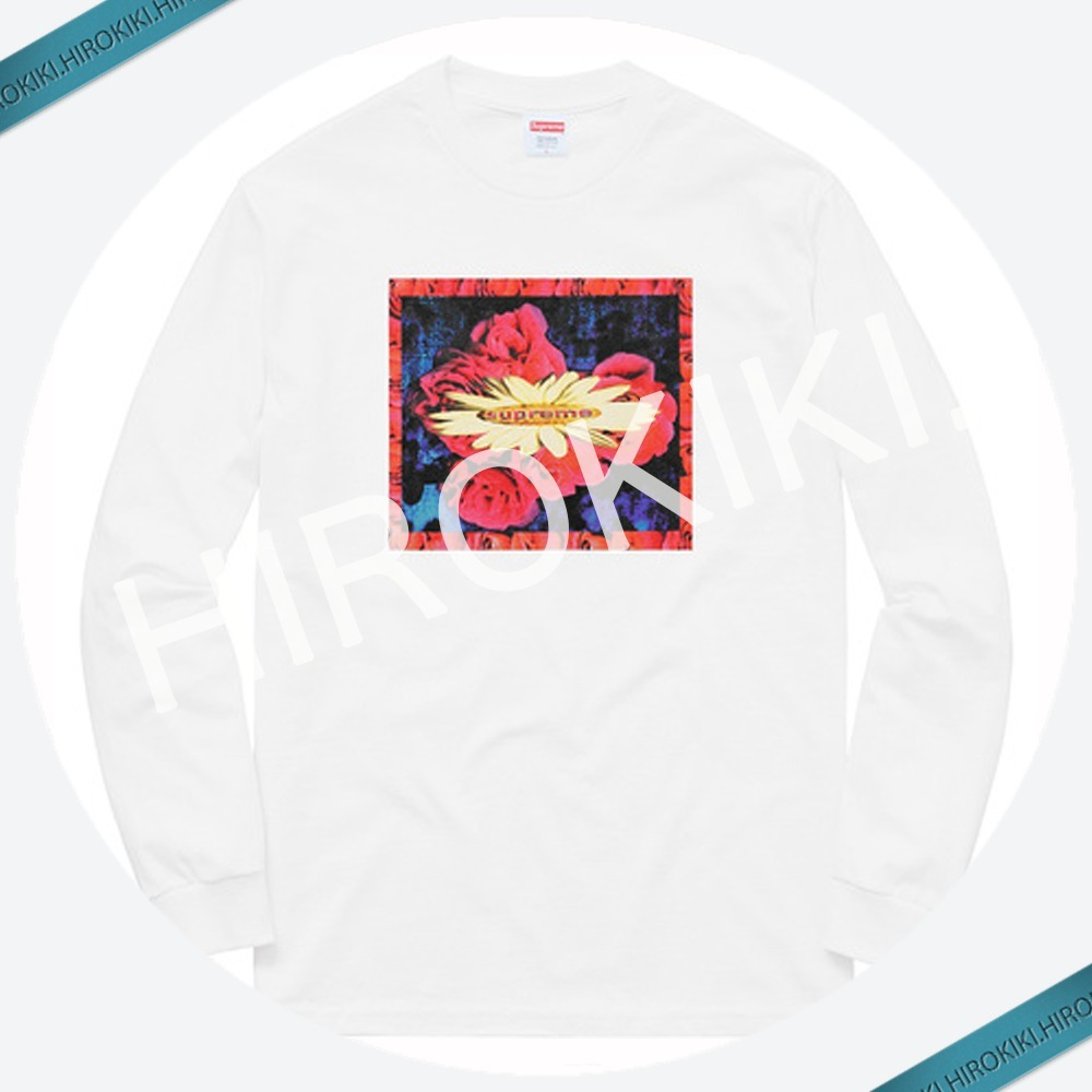 【17AW】Supreme Bloom L/S Tee (Tシャツ) ブルーム White 白