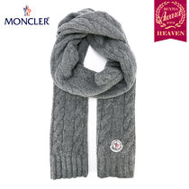 TOPセラー賞受賞!17/18秋冬┃MONCLER★CABLE KNIT SCARF_グレー