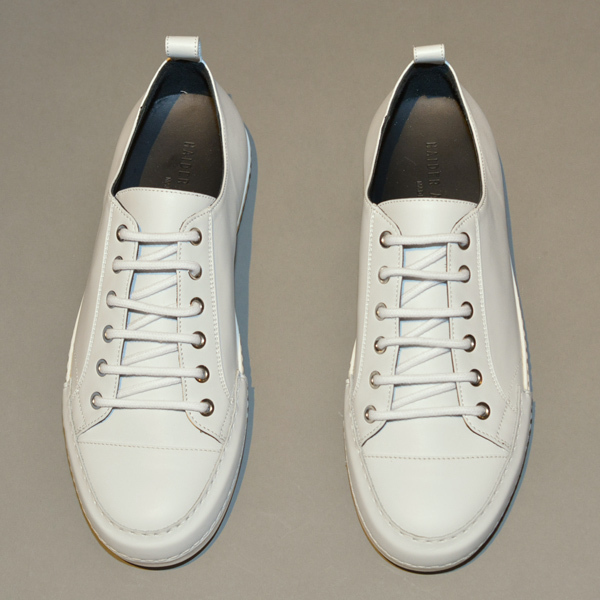 HAIDER ACKERMANN LOW-CUT LEATHER SNEAKERS WHITE