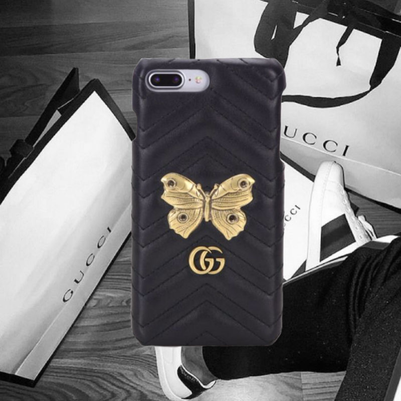 Gucci★Metal Mix GG Marmont Leather iPhone Case iPhone 7