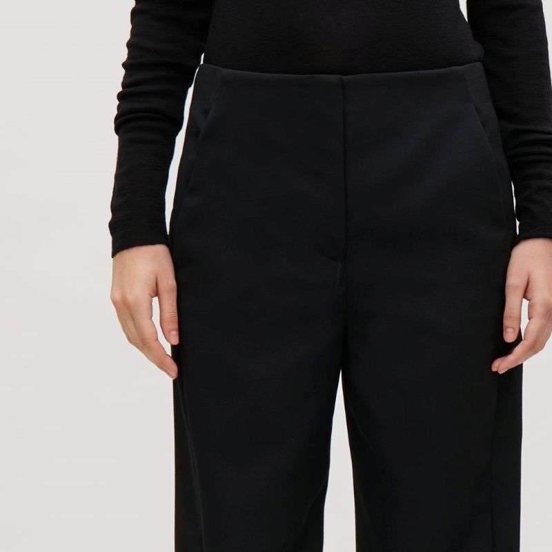 """COS""TWISTED-SEAM TROUSERS BLACK"
