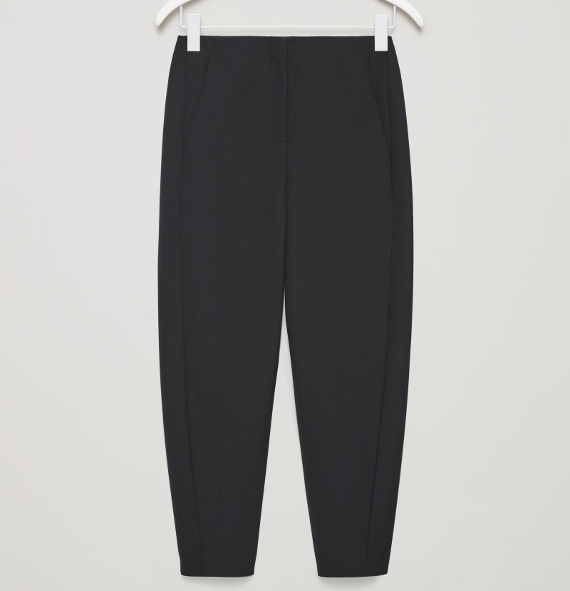 """""""COS""""TWISTED-SEAM TROUSERS BLACK"""