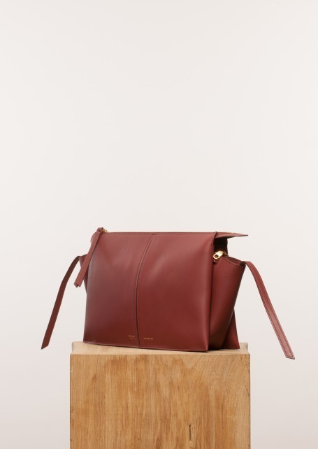 【CELINE】Red wood Tri-Fold clutch