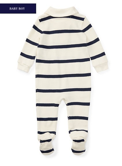 新作♪国内発送★2色★STRIPED FRENCH-RIB COVERALL  boys 0~24M