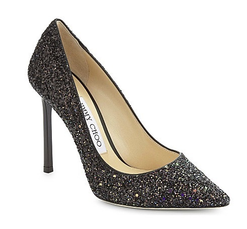 【JIMMY CHOO】Romy 100 coarse グリッター courts パンプス