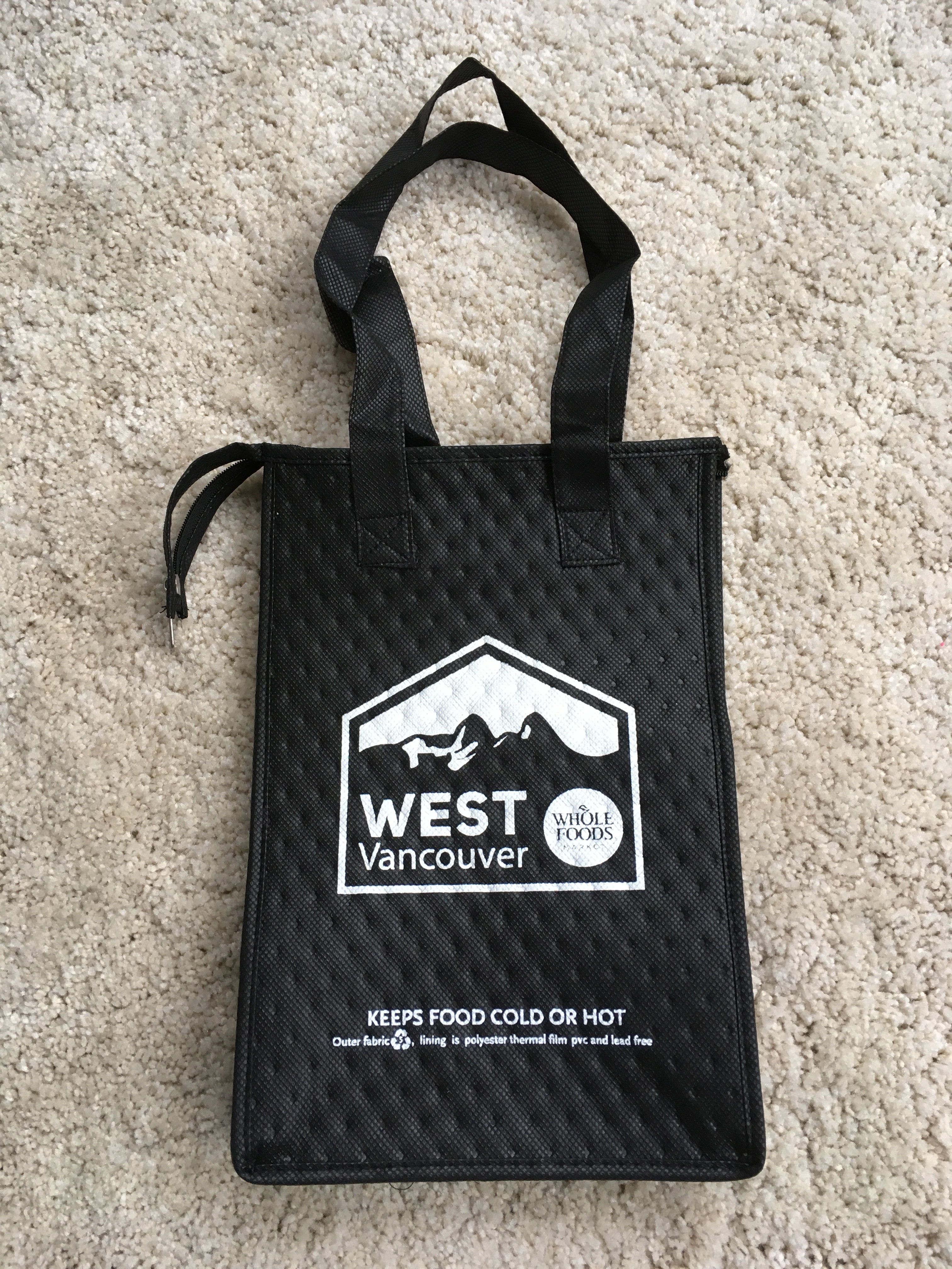 【 Thermal lunch sack 】★ West Vancouver/black