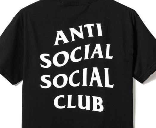 Get Wierd Tee  / Anti social social club / BLACK / サイズM