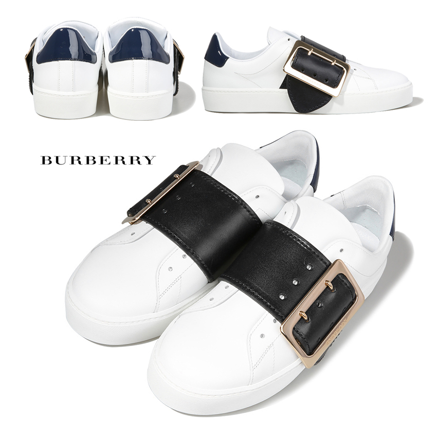 BURBERRY/17SS/4037428/バックルディテールスニーカー/WHITE