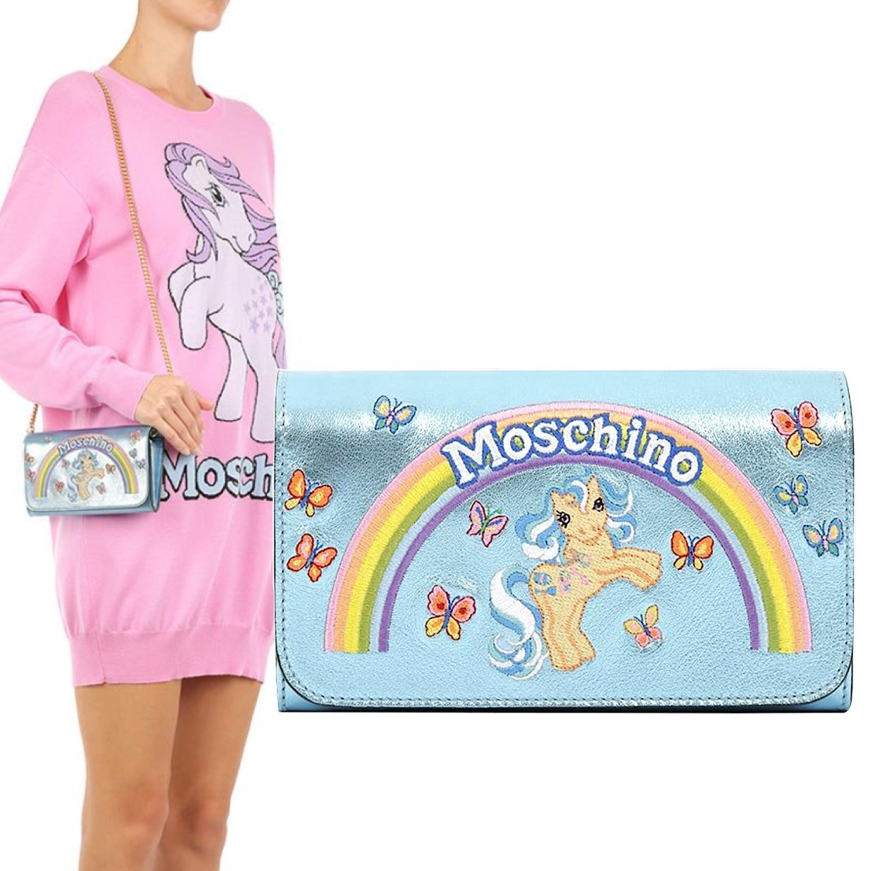 MOSCHINO My Little Pony チェーンショルダー A819980610305