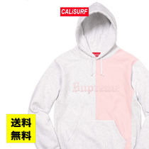 WEEK6 Supreme SPLIT OLD ENGLISH HOODED SWEATSHIRT/WHITE/M-XL