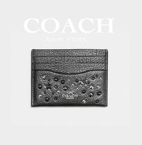 ♪COACH♪カードケース Metallic Leather With Star Rivets