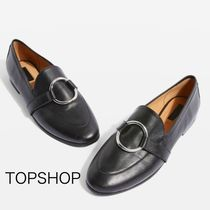 国内発送☆TOPSHOP★Kreme Ring Loafers / Black