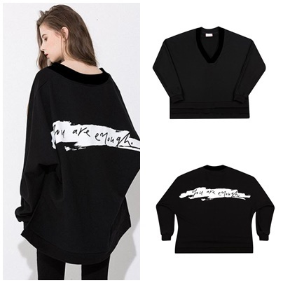 日本未入荷MOTIVESTREETのV-NECK PAINTING SWEAT SHIRT