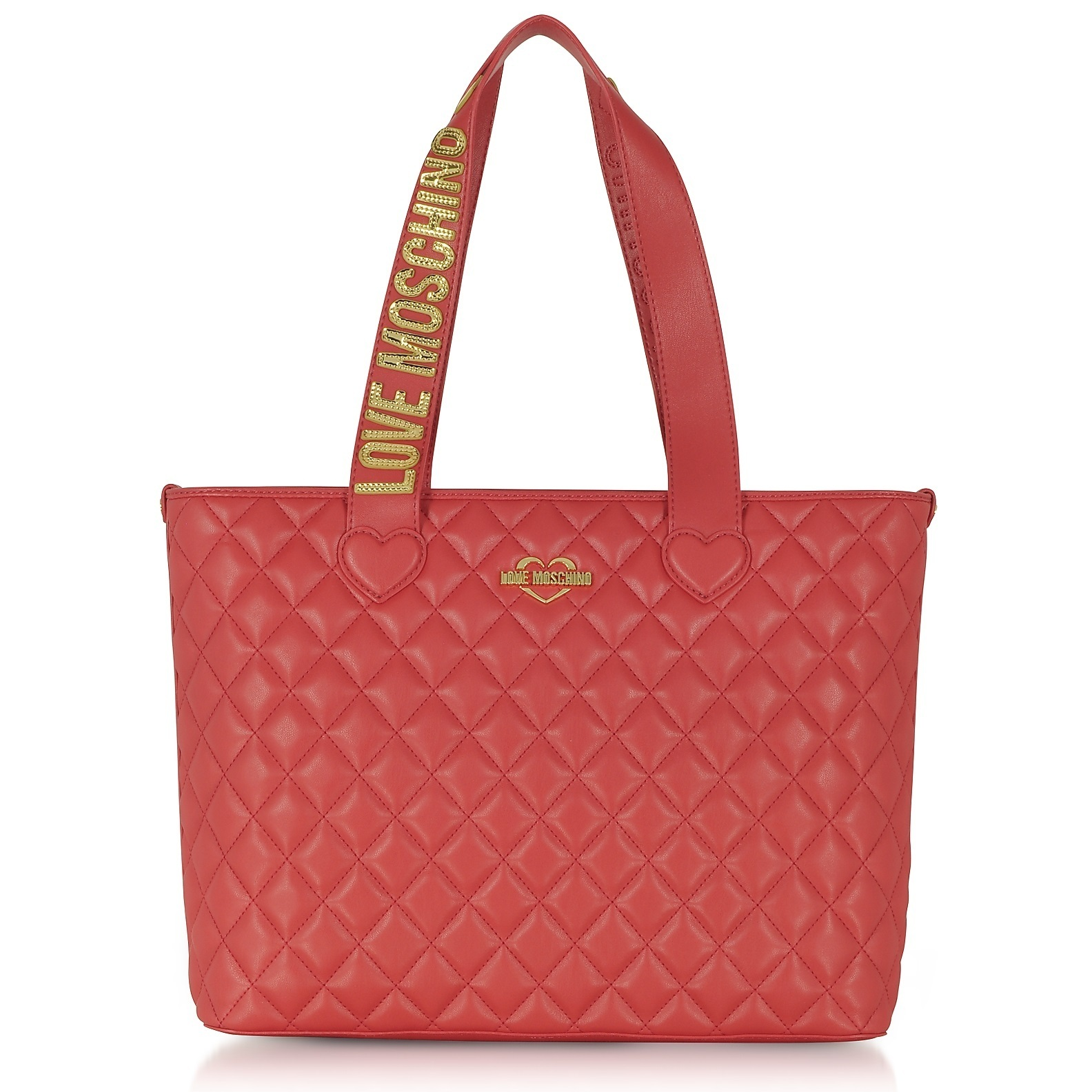 ★Love Moschino★ Fashion Red Quilted Ecoトートバッグ 関税込