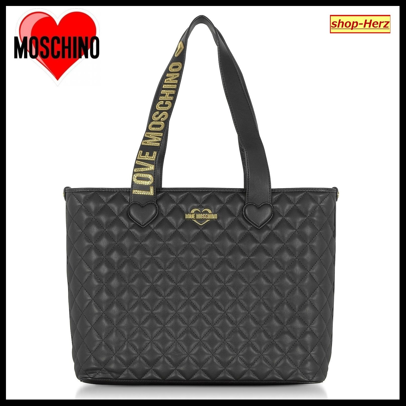 ★Love Moschino★ Fashion Quilted Eco トートバッグ 関税込
