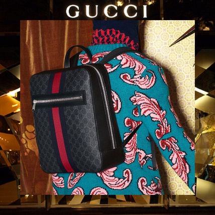 【17AW NEW】GUCCI_men/GG Supreme backpack/バックパック