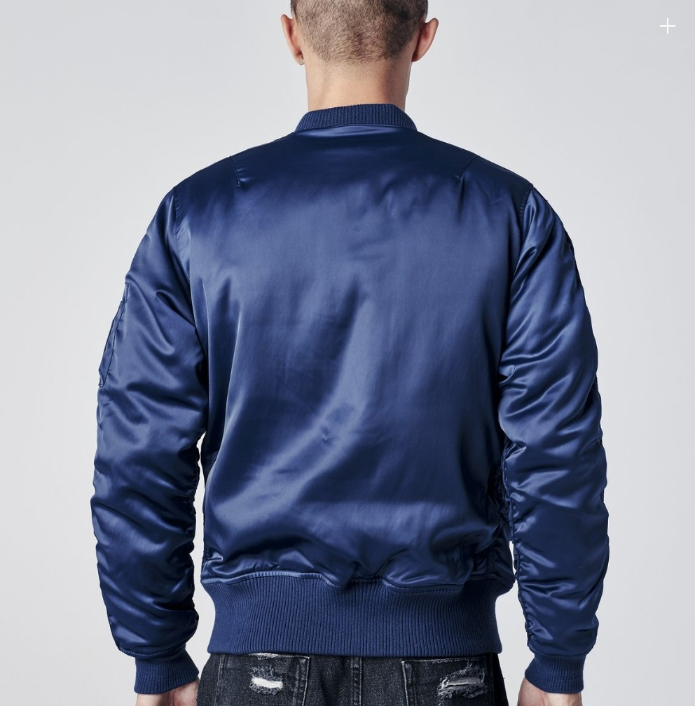 追跡有配送!NEW!Stamp'd LA - CHARMEUSE BOMBER (Navy)