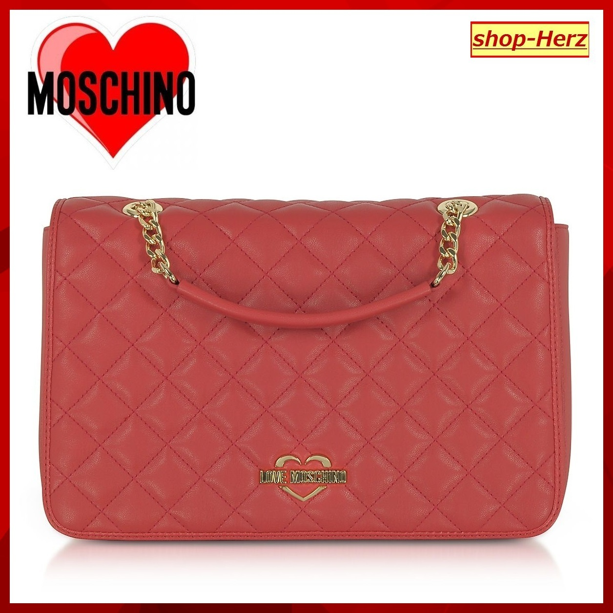 ★Love Moschino★ Fashion Quilted Ecoショルダーバッグ 関税込