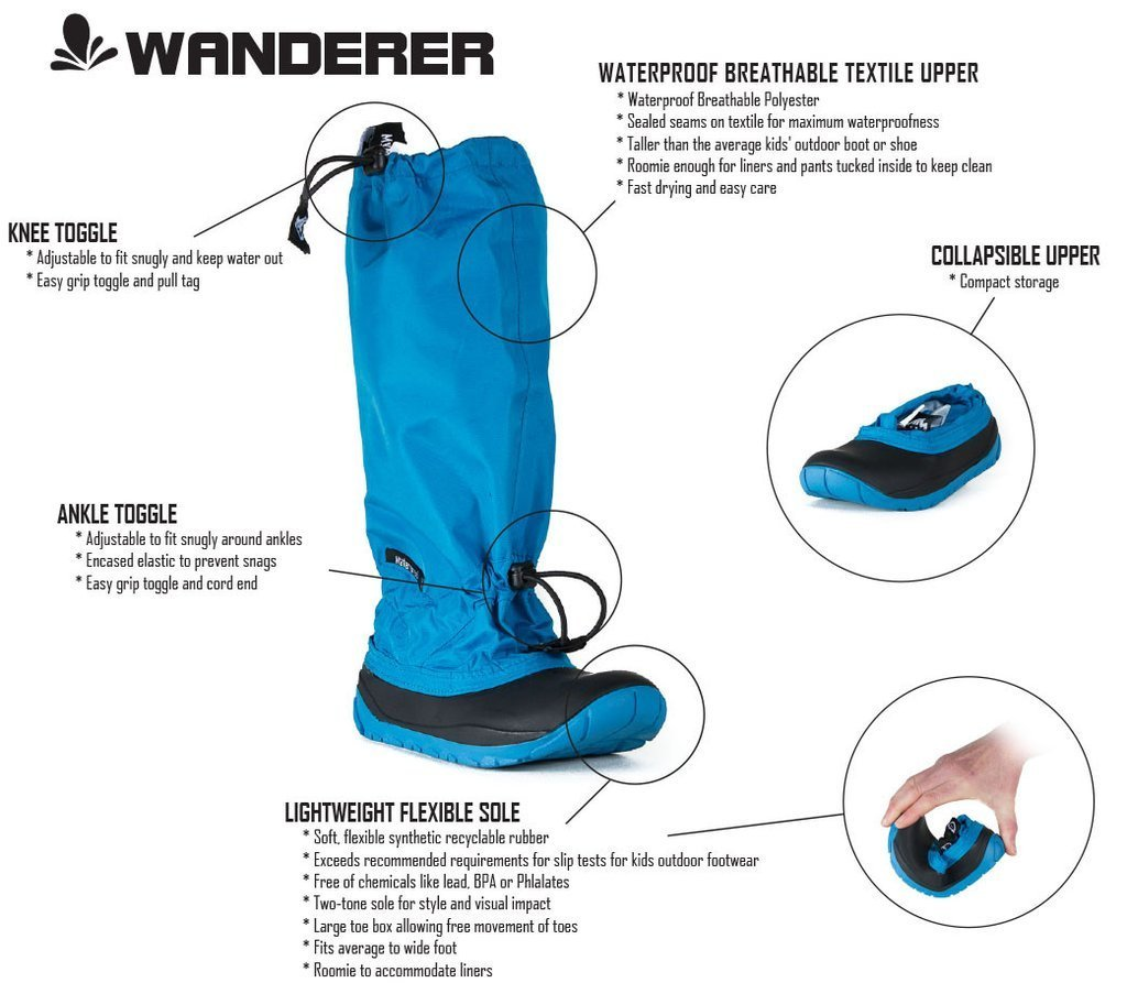 【 Wanderer-Lightweight Outdoor Boots 】★ Toddler / Teal