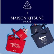 3 CONCEPT EYES(スリーコンセプトアイズ) トートバッグ 【3CE】3CE MAISON KITSUNE TOTE BAG #RED