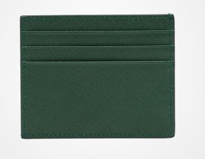 PRADA★プラダ LEATHER CREDIT CARD HOLDER (5色)