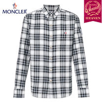 TOPセラー賞受賞!17/18秋冬┃MONCLER★CHECKED SHIRT_ホワイト