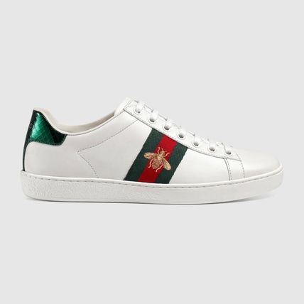 """関税/送料込""Gucci Ace embroidered スニーカー white leather"