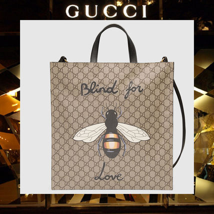dcc860d8300 GUCCI トートバッグ  17AW NEW GUCCI men Bee print soft GG Supreme tote ...