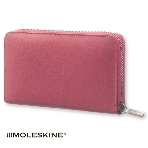 【MOLESKINE(モレスキン)】LEATHER LINEAGE ZIP WALLET - PINK