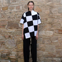 MARQUES ALMEIDA CHECKERBOAD OVERSIZE T-SHIRT BLACK/WHITE