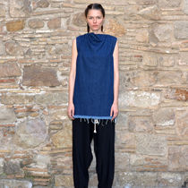 MARQUES ALMEIDA SLEEVELESS DENIM TUNIC INDIGO BLUE