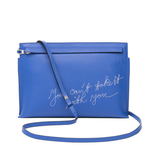 17AW新作【LOEWE】T Pouch Cant Take It Bag Electric Blue