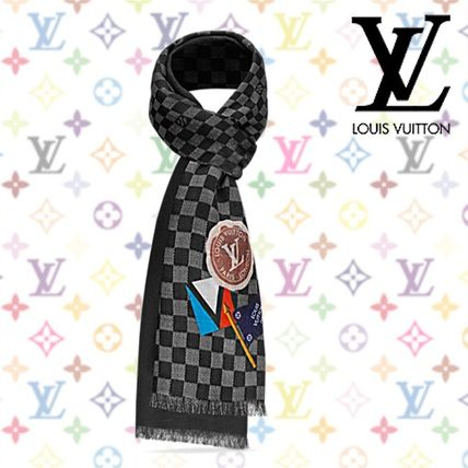 17AW 新作★Louis Vuitton★COLLEGE・LVリーグ ストール ダミエ