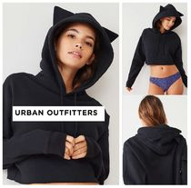 Urban Outfitters☆ Caturday Cropped Hoodie Sweatshirt☆